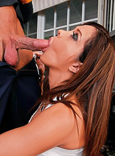 Francesca Le strips her slutty club dress and makes out with her passionate lover.