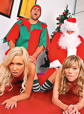 Slutty blonde bitchesKacey Jordan and Nicole Ray got fucked by horny santa.