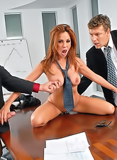 Kirsten Price sucking a big cock and gets her nasty pussy fucked at her office.