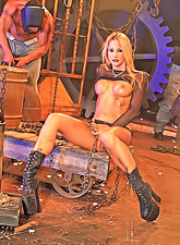 Jessica Drake satisfies her roughest sex fantasies with the help of hot stallions.