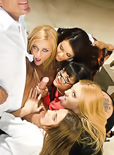 Hollie Stevens, Daisy Marie, Mackenzie Miles, Lindsey Meadows and Carmen Hart fucking.