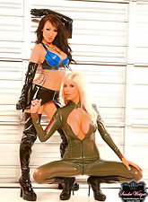 Beautiful slutty teen chicks Sandee Westgate and Puma Swede have amazing lesbo sex.
