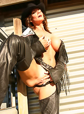 Deauxma stips her slutty lingerie and then fingers her hungry wet meat hole.