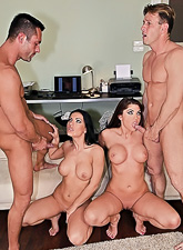 This impressive group sex session with cock hungry European chicks is so damn hot. What a scene!