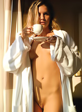 Iveta Vale takes her bathrobe off and shows us her fantastic seductive body.