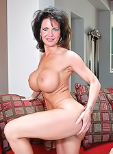 Handsome mature brunette Deauxma with big meat puppets getting shagged hard.
