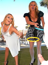 Krissy Lynn and Kelly Madison caught an Easter rabbit and made him fuck their holes.