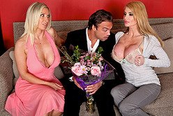 Horny blonde hoes Devon Lee and Taylor Wane get rammed by hard fat meat hole.