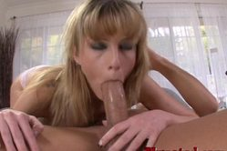 Tricia Oaks goes into position 69 with her hung lover and blows his huge torch.