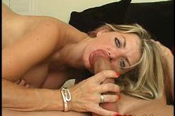 Vicky Vette goes down on her lover and blows his massive throbbing meat pole