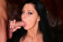 Aletta Ocean goes down on her knees and pleases her lover with a good blowjob.