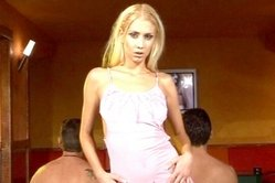 Julie Silver and her hot lover strip together on the bed and get rammed roughly