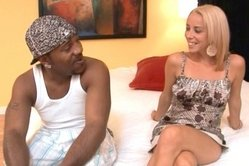 Amazing interracial session with this skinny babe and her well hung black man. She's eager for hot s