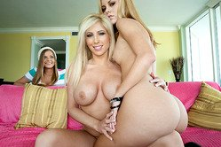 Tasha Reign and her foxy friend strip together for the camera and have amazing sex