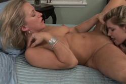 Mature blonde darling gets her pussy licked so well by her younger partner. Such a nasty couple