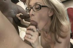 Nina Hartley strips her little panties off and gets her pussy drilled hard and fast