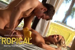 Impeccable horny gal in sexy yellow lingerie loves kinky oral sex with a raunchy dude