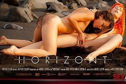 Two babes in love shoot their fantastic love story and sex games they play on the beach
