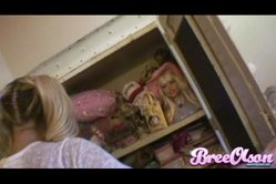 Bree Olson strips her underwear off and then rubs her hungry wet vagina on her bed.