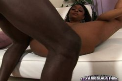 Carmen Hayes holds her massive boobs while she gets her black cunt rammed hard.